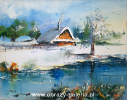 Alfred Anioł - Winter cottage